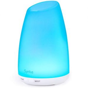 Syntus 150ML Essential Oil Diffuser Ultrasonic Aromatherapy Diffusers with Adjustable Mist Mode and Waterless Auto Shut-Off for Home Office