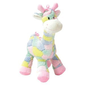 Pastel 13 Inch Plush Giraffe Rattle for Baby – Crib Toy – Infant – Baby Shower – Boy or Girl
