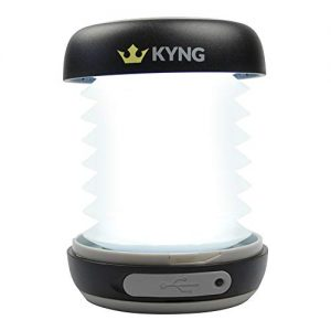KYNG Solar Rechargeable LED Lantern Collapsible for Camping Outdoors Emergency Built In Power Bank Emergency Charger for Phone Water Resistant, Flashlight for Outdoor Hiking, USB Charging, Solar Panel