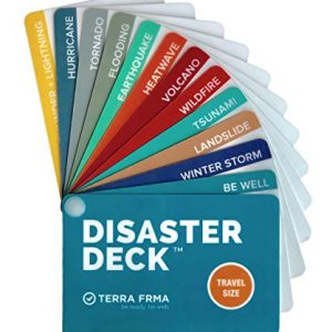 DISASTER DECK – Pocket Size Emergency Survival Cards – Survival Guide & Emergency Preparedness with Instructions for Disasters