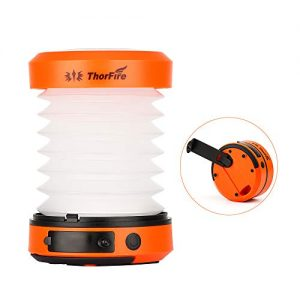 ThorFire LED Camping Lantern Lights Hand Crank USB Rechargeable Lanterns Collapsible Mini Flashlight Emergency Torch Night Light Tent Lamp for Camping Hiking Tent Garden Patio – CL01