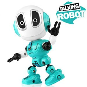 Betheaces Robots Toy for Kids, Boys, Girls – Metal Talking Robot Kit with Sound & Touch Sensitive LED Eyes Flexible Body, Mini Smart Interactive Educational Toys for 2 3 4 5 6 Year Old Birthday Gift