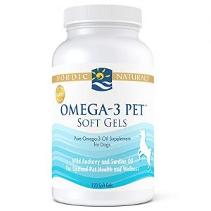 Nordic Naturals Omega 3 Pet – Special Dog Formula Fish Oil Omega-3s, EPA and DHA Support Skin, Coat, Joint, Heart and Overall Health, in Triglyceride Form for Optimal Absorption, 120 Count Bonus Size