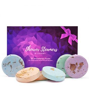 Cleverfy Shower Steamers Aromatherapy Gifts for Women – [6X] Shower Bombs with Essential Oils for Stress Relief – Great as SPA Gifts for Mom, Birthday Gifts for Women, Unique Gift for Women,Mom Gifts