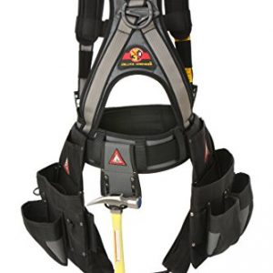 Super Anchor Safety 6151-GSL Deluxe Full Body Harness plus All-Pakka Tool Bag Combo, Large, Silver