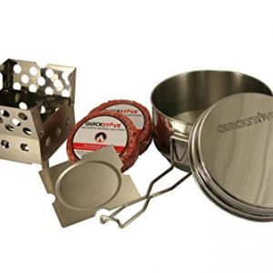 QuickStove Portable Emergency Cook Kit. Multi-Fuel Stove, Stainless Steel Pot, Fuel, and Food – Perfect for Survival Kits & Emergency Preparedness