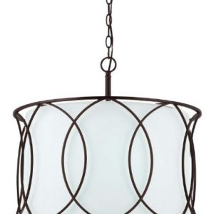 Canarm ICH320A03ORB20 Monica 3-Light Chandelier, 20.5″ x 20.5″ x 17.5″, Oil Rubbed Bronze
