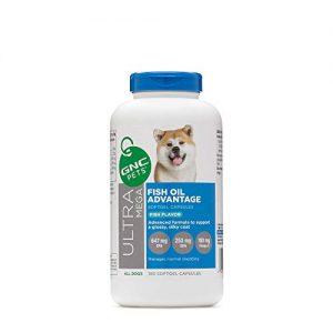 GNC Pets Ultra Mega Fish Oil Advantage Softgel Capsules Dog Supplement, 180 Count – Fish Flavor | Advanced Support for a Glossy, Silky Coat, Model:FF13770