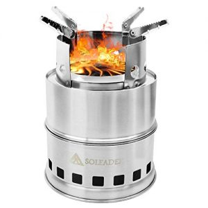 SOLEADER Portable Wood Burning Camp Stoves – Compact Gasifier Stove – Twig Stove For Camping, Hiking, Backpacking The 3rd Generation