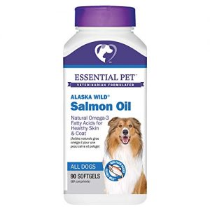 Essential Pet Products Alaska Wild Salmon Oil Soft Gels 1000mg with Natural Omega-3 Fatty Acids for Dogs, Yellow (27391)