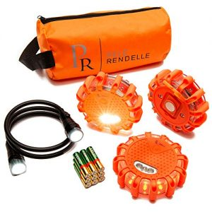 P.Rendelle LED Road Safety Flares for Cars. Emergency Lights Roadside Warning Safety Light Kit. Safety Disc for Vehicles. RV Accessories and Essentials. Flashing Beacons Flexible Flashlight and Bag