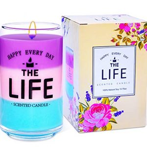 Scented Candle Gift Set Soy Wax Candle 13.75oz Aromatherapy Candle with 3 Fragrances – Jasmine, Peony and Cherry Blossom, Present for Women and Mother