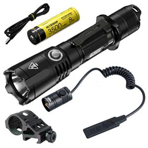 Nitecore MH25GTS 1800 Lumen USB Rechargeable Tactical Flashlight RSW2D Pressure Switch and LumenTac Offset Mount