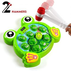 YEEBAY Interactive Whack A Frog Game, Learning, Active, Early Developmental Toy, Fun Gift for Age 2,3, 4, 5, 6, 7, 8 Years Old Kids, Boys, Girls,2 Hammers Included