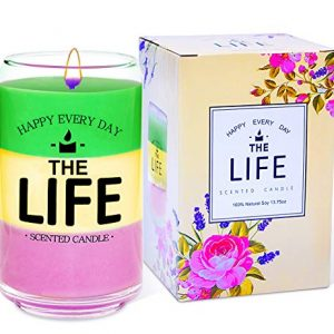 Scented Candle Gift Set Soy Wax Candle 13.75oz Aromatherapy Candle with 3 Fragrances – Lemon, English Pear and Freesia, Present for Women and Mother