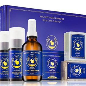 Ancient Greek Remedy Organic Spa Skin Care Gift Set, Perfect for Moms, Pregnancy, Daily Bath and Shower, Face and Body Care, and Post Cancer, Chemo Rejuvenation