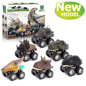 Dinosaur Toys for 3 Year Old Boys, Pull Back Dinosaur Toys for 5 Year Old Boy 6 Pack Set Car Toys for 4 Year Old Boys Birthday Gift Toys for 3,4,5,6,7 Year Old Boys