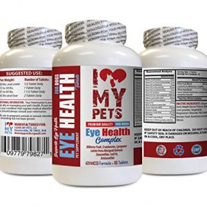 I LOVE MY PETS LLC Dog Eye Health Supplements – Dog Eye Health Complex – Premium Formula – Vet Recommended – Dog astaxanthin – 1 Bottle (60 Treats)
