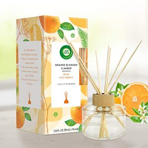Air Wick Reed Diffuser, Orange Blossom and Amber, 1ct