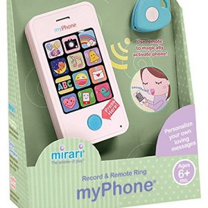Mirari myPhone Toy Phone for Babies/Toddlers Ages 6 Months and Up–Record Personalized Messages and Use Remote to Magically Make it Ring!