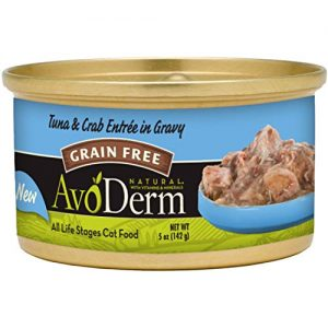 AvoDerm Natural Grain Free Tuna & Chicken Entrée with Vegetables Wet Cat Food 3 oz, (Pack of 24)