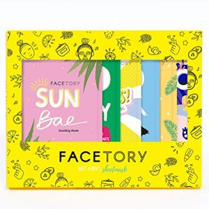 FaceTory 6 Sheet Mask Gift Set   Hydrate, Brighten, Moisturize for Glowing Skin