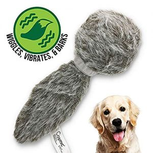 Hyper Pet Doggie Tail Interactive Plush Dog Toys (Wiggles, Vibrates, and Barks – Dog Toys for Boredom and Stimulating Play,Color Varies)