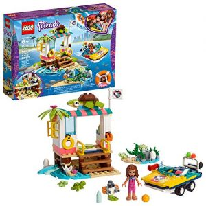 LEGO Friends Turtles Rescue Mission 41376 Rescue Building Kit with Olivia Minifigure and Toy Turtles, Includes Toy Rescue Vehicle and Clinic for Pretend Play (225 Pieces)