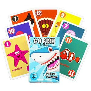 GlobalDream Go Fish Card Game for Kids – Go Fish and Old Maid – Colorful Design – Great for Children Ages 4-8