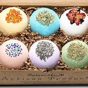 Mother's Day Organic Bath Bombs Gift Set For Women All Natural with Epsom Salt Relaxation Dead Sea Salt – Natural and Safe Bath Bombs Kit for Kids Her Mom Mother Grandma Girlfriend – Best Gifts Idea