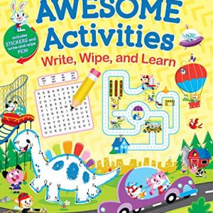 Awesome Activities: Write, Wipe, and Learn-Hours of Brain-Teasing, Boredom-Busting, Interactive Fun! (Write, Write, and Learn)Spiral-bound – October 13, 2020